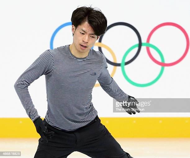 Tatsuki Machida of Japan practices during Figure Skating training ahead of the Sochi 2014 Winter Olympics at Iceberg Skating Palace on February 4...