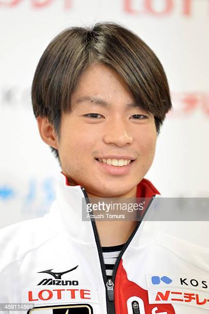 Tatsuki Machida of Japan smiles in the press conference after the All Japan Figure Skating Championships at Saitama Super Arena on December 23 2013...