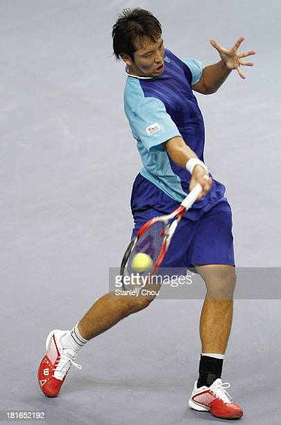Tatsuma Ito of Japan plays during day one of the 2013 Malaysian Open at Putra Stadium on September 23 2013 in Kuala Lumpur Malaysia