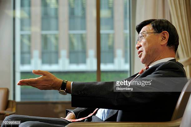 Tatsuo Tanaka, deputy president of Bank of Tokyo Mitubishi UFJ Ltd. And chief executive officer of global banking at the bank, speaks during an...