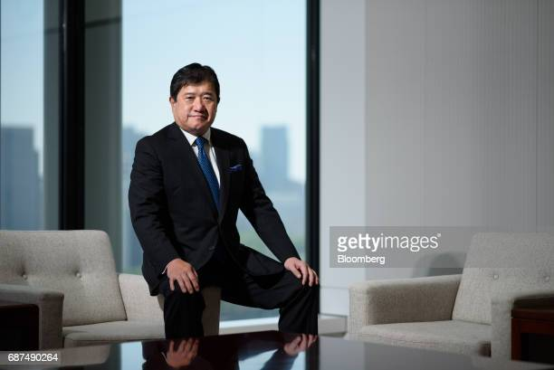 Tatsuo Yasunaga president and chief executive officer of Mitsui Co poses for a photograph in Tokyo Japan on Tuesday May 23 2017 Mitsui aims to spend...