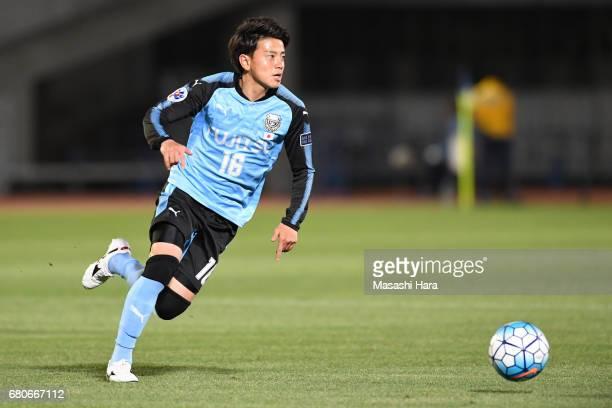 Tatsuya Hasegawa of Kawasaki Frontale in action during the AFC Champions League Group G match between Kawasaki Frontale and Eastern SC at Kawasaki...