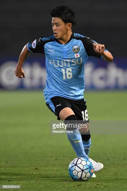 Tatsuya Hasegawa of Kawasaki Frontale in action during the AFC Champions League Round of 16 match between Kawasaki Frontale and Muangthong United at...