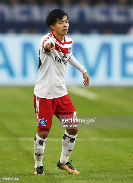 Tatsuya Ito of Hamburger SV during the Bundesliga match between FC Schalke 04 and Hamburger SV at VeltinsArena on November 19 2017 in Gelsenkirchen...