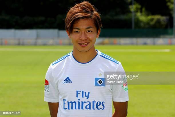 Tatsuya Ito of Hamburger SV poses during the team presentation at on July 20 2018 in Hamburg Germany