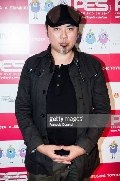 Tatsuyuki Tanaka attends the 'TOYOTA x STUDIO4AC meets ANA PES' press conference during the Japan Expo at Parisnord Villepinte Exhibition Center on...