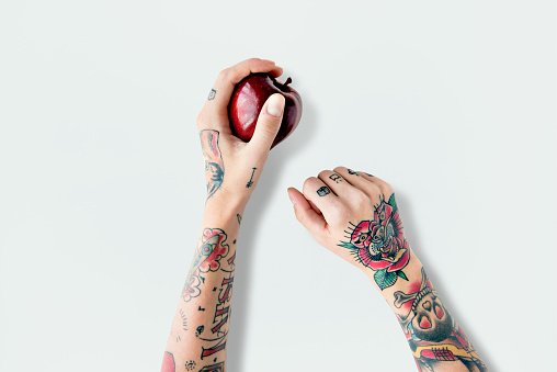 Tattoo Apple Fruit Red Fresh Sweet Juicy Concept 809679998