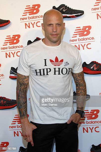 Tattoo Artist Ami James attends the opening of the New Balance Experience Store on August 10 2011 in New York City