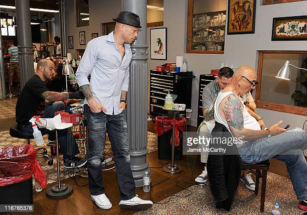Tattoo artist and TV personality Ami James previews his new space at the Wooster Street Social Club on June 17 2011 in New York City