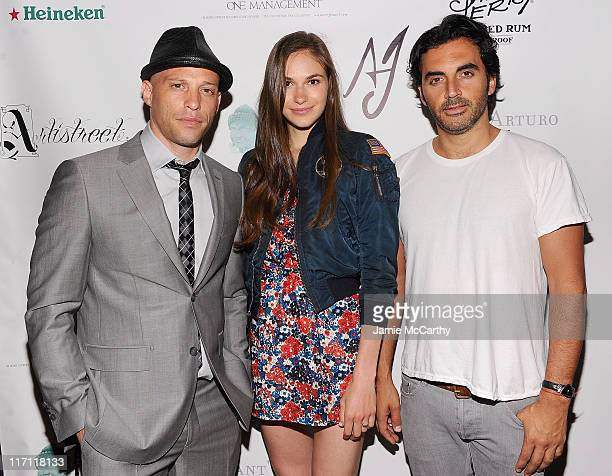 Tattoo artist and TV personality Ami JamesJennifer Missoni and designer Yigal Azrouel attend the grand opening Wooster Street Social Club on June 22...