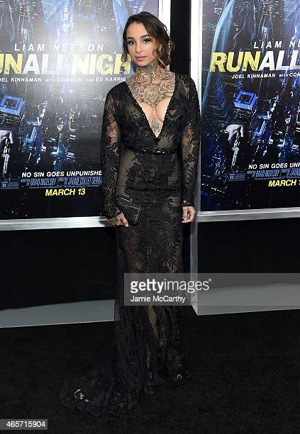Tattoo Artist Cleo Wattenstrom attends the Run All Night New York Premiere at AMC Lincoln Square Theater on March 9 2015 in New York City