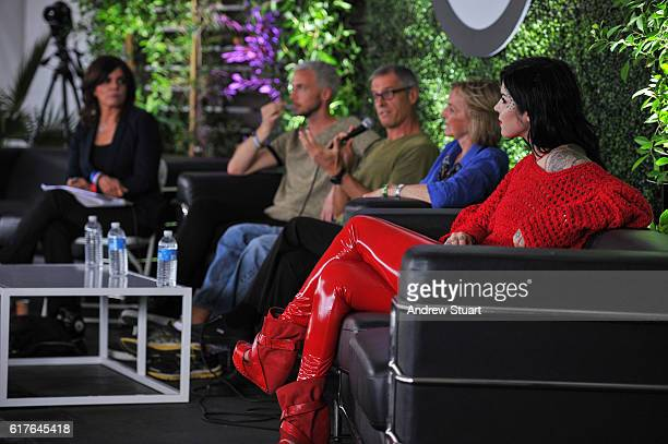 Tattoo artist entrepreneur and television personality Kat Von D on the Circle V Festival Vegan panel at the Fonda Theatre on October 23 2016 in Los...
