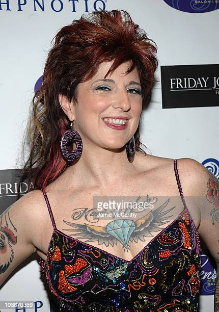 Tattoo Artist Friday Jones attends the opening of Friday Jones Fifth Ave Tattoo Studio at Senses NY Salon Spa on July 14 2009 in New York City