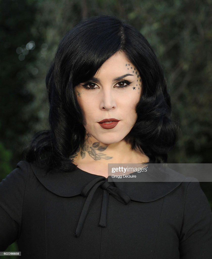 Tattoo artist Kat Von D arrives at Mercy For Animals Hidden Heroes Gala 2016 at Vibiana on September 10, 2016 in Los Angeles, California.
