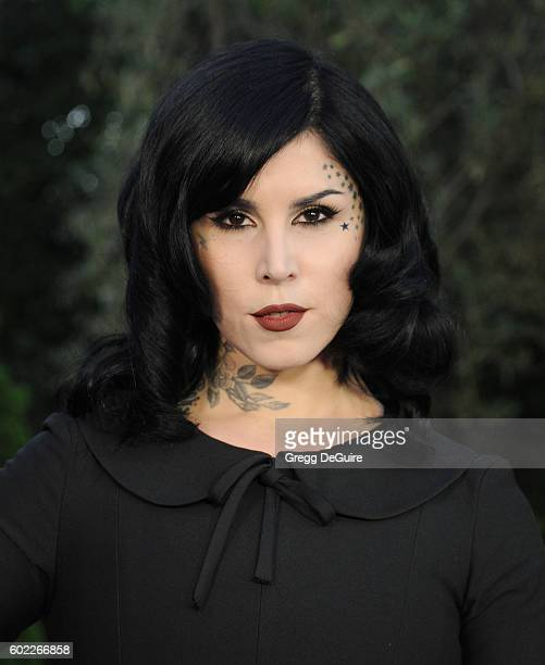 Tattoo artist Kat Von D arrives at Mercy For Animals Hidden Heroes Gala 2016 at Vibiana on September 10 2016 in Los Angeles California