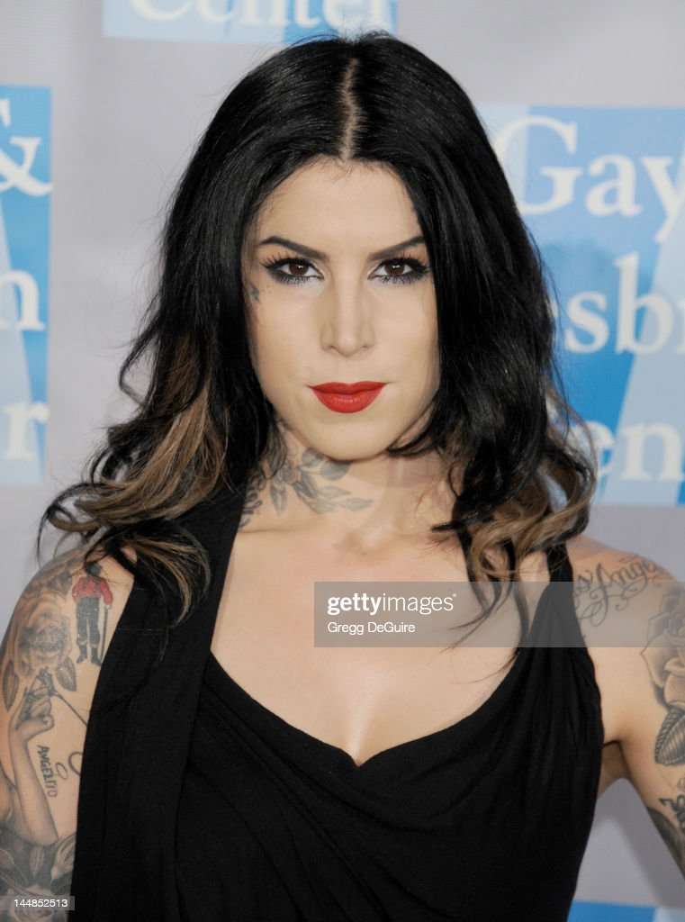 Tattoo artist Kat Von D arrives at the L.A. Gay & Lesbian Center's 'An Evening With Women' at The Beverly Hilton Hotel on May 19, 2012 in Beverly Hills, California.