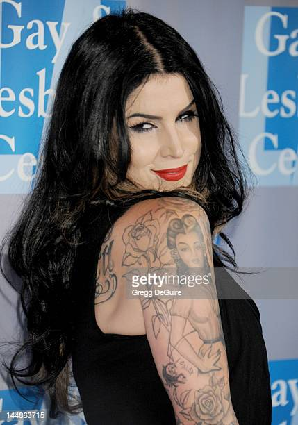 Tattoo Artist Kat Von D Arrives At The La Gay Lesbian Centers An Evening With