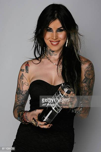 Tattoo artist Kat Von D poses for their portrait at Hollywood Life Magazine?s 10th Annual Young Hollywood Awards at the Avalon on April 27, 2008 in...
