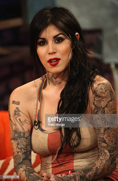 Tattoo artist Kat Von D visits fuse's The Sauce on January 8 2007 at fuse Studios in New York City