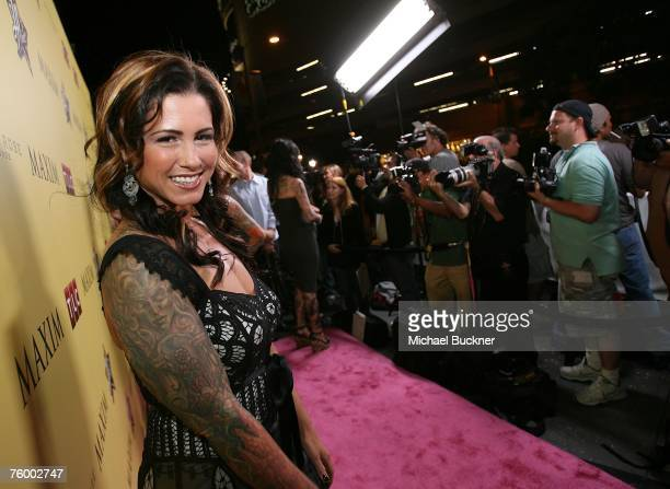 Tattoo artist Kim Saigh attends the premiere party of Discovery Channel's LA INK at the Stone Rose Lounge on August 6 2007 in Los Angeles California