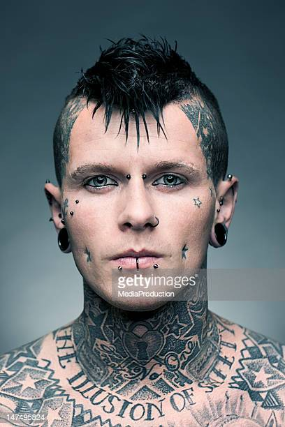 tattoo artist portrait - punk person stock pictures, royalty-free photos & images