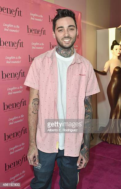 Tattoo artist Romeo Lacoste attends Benefit Cosmetic's 1st Annual National Wing Women Weekend VIP Launch at Space 15 Twenty on September 26 2014 in...