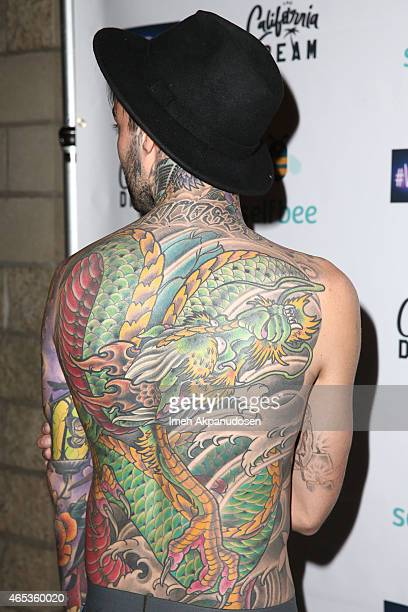 Tattoo artist Romeo Lacoste attends the California Dream Grand Opening Event Experience at The California Dream on March 5 2015 in North Hollywood...
