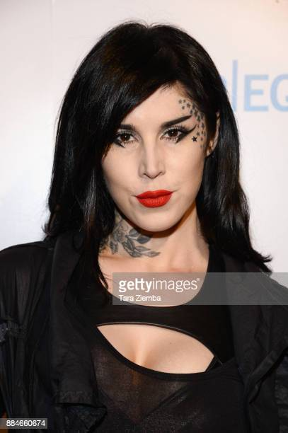 Tattoo artist/TV personality Kat Von D attends the Animal Equality Global Action annual gala at The Beverly Hilton Hotel on December 2 2017 in...