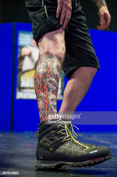Tattoo collectors take part in the ornamental competition during the Scottish Tattoo Convention on March 28 2015 in Edinburgh Scotland