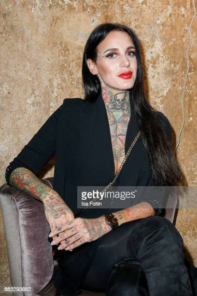 Tattoo model Lexy Hell attends the First Female DIY Pop Up Store Opening at Seven Star Gallery on November 30 2017 in Berlin Germany