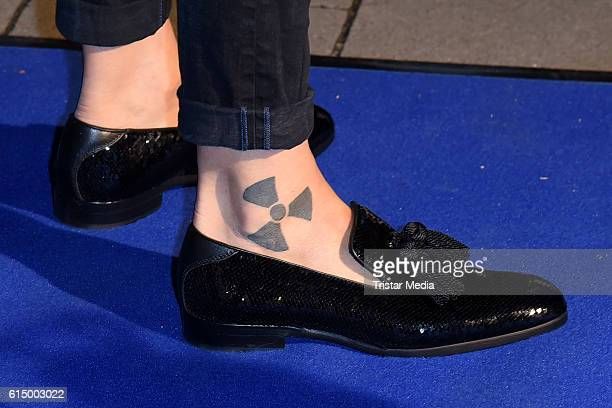 Tattoo of Florian Wess as a detail during the Opening Party of the Men's Beauty Clinic on October 15 2016 in Duesseldorf Germany