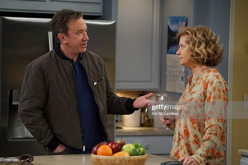 STANDING - 'Tattoo' - Vanessa hopes getting a tattoo will change the current status she has with her three daughters from mother/daughter to the friend/friend level. Meanwhile, Ryan gets camping lessons from Kyle, on 'Last Man Standing,' FRIDAY, APRIL 8 (8:00-8:31 p.m. EDT) on the ABC Television Network. (Photo by Eric McCandless/ABC via via Getty Images)TIM