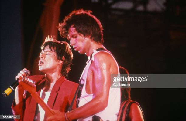Tattoo You Tour, Mick Jagger, Keith Richards, The Rolling Stones, Feyenoord Stadion , Rotterdam, Holland, .