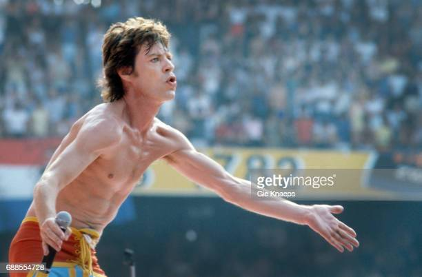 Tattoo You Tour Mick Jagger The Rolling Stones Feyenoord Stadion Rotterdam Holland