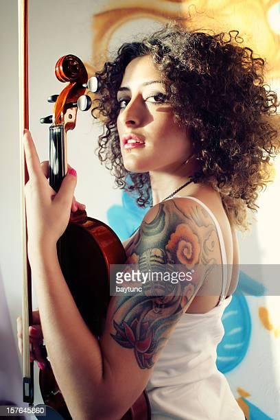 Tattooed Violinist