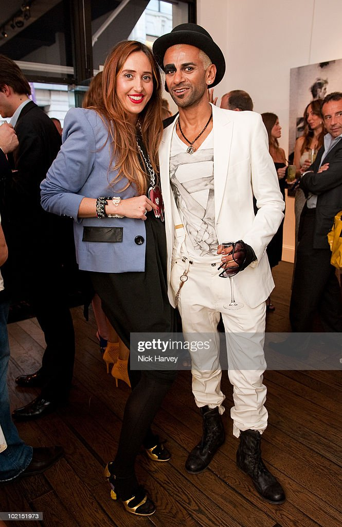Tatum Mazzilli and Zoobs attend the Zoobs vs. Lodola private view at Opera Gallery on June 16, 2010 in London, England.
