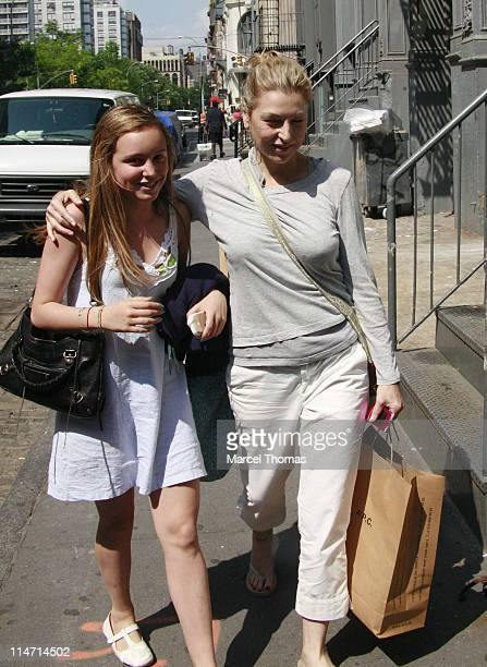 Tatum O'Neal and daughter Emily during Tatum O'Neal and Daughter Emily Sighting in New York City June 5 2007 in New York City New York United States