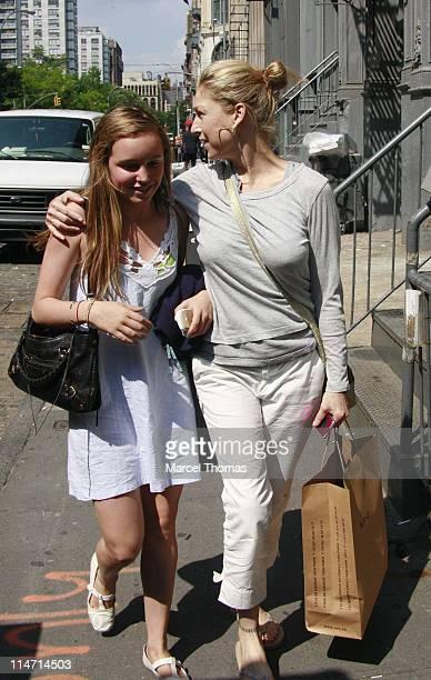 Tatum O'Neal and daughter Emily during Tatum O'Neal and Daughter Emily Sighting in New York City June 5 2007 in New York City New York United States