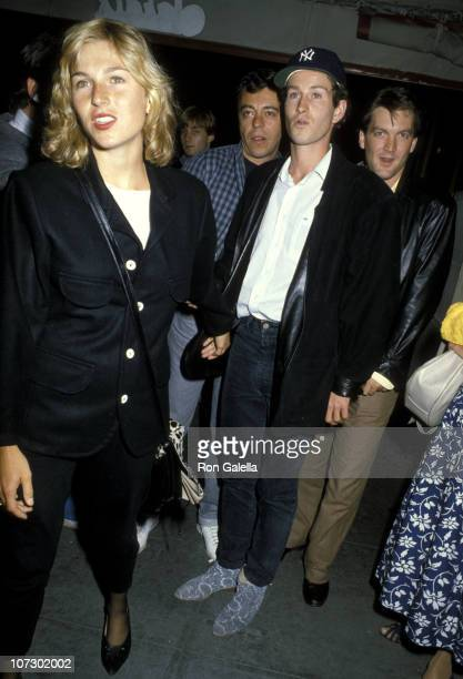 Tatum O'Neal and John McEnroe during Goose Tom Tom Closing Night Party August 30 1986 at Sardi's in New York City New York United States
