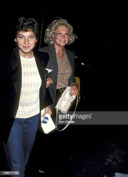 Tatum O'Neal and Mother Joanna Moore during 'La Cage aux Folles' Celebrities Attend Performance June 9 1981 in New York City New York United States