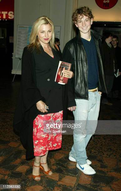 Tatum O'Neal and son during Motorola Presents an Evening with Index Magazine at The Public Theater in New York City New York United States