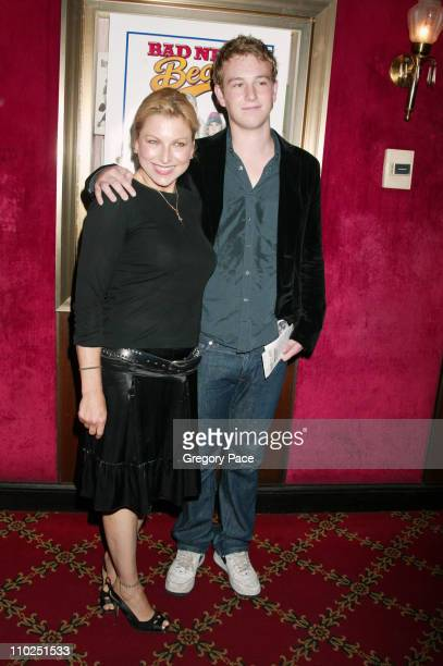 Tatum O'Neal and son Kevin McEnroe during Bad News Bears New York City Premiere Inside Arrivals at Ziegfeld Theater in New York City New York United...