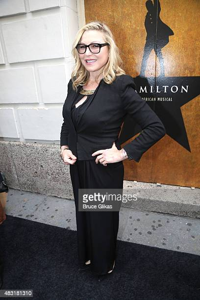 Tatum O'Neal attends Hamilton Broadway opening night at Richard Rodgers Theatre on August 6 2015 in New York City