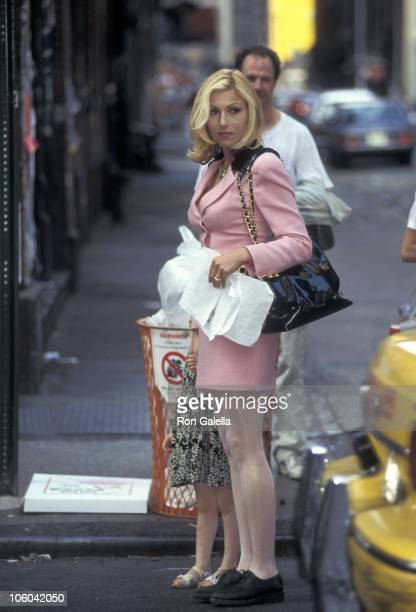 Tatum O'Neal during Tatum O'Neal on the Set of Basquiat June 16 1995 at SoHo in New York City New York United States