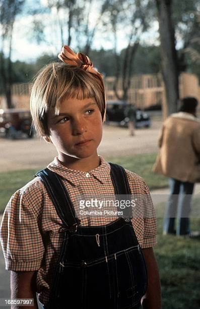 Tatum O'Neal in a scene from the film 'Paper Moon' 1973