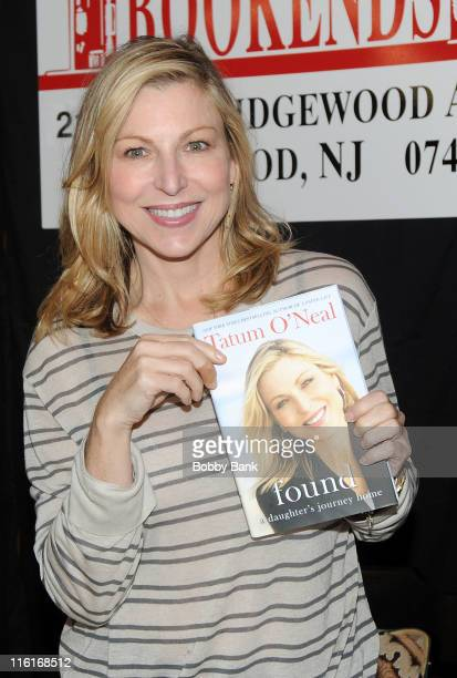 Tatum O'Neal promotes Found A Daughter's Journey Home at Bookends Bookstore on June 14 2011 in Ridgewood New Jersey