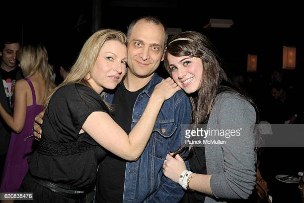 Tatum O'Neal Ron Castelano and Emily McEnroe attend THE CINEMA SOCIETY and CALVIN KLEIN JEANS Host the After Party for 21 at Mercer Kitchen on March...