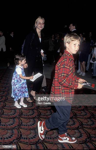 Tatum O'Neal with daughter Emily McEnroe and son Kevin McEnroe