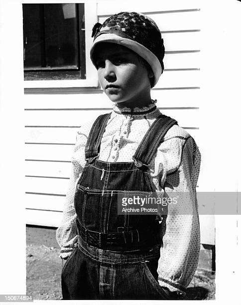 Tatum O'Neal with her hands in her pockets in a scene from the film 'Paper Moon' 1973