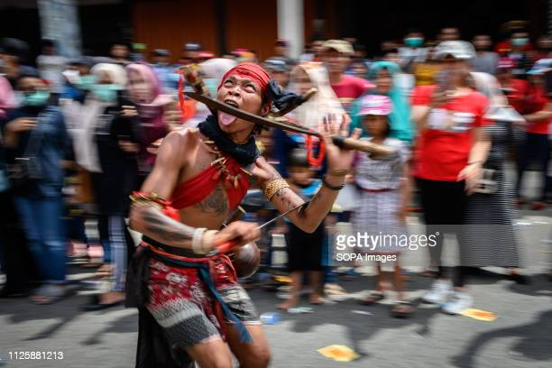 Tatung seen torturing himself during the Cap Go Meh festival celebration The ancient art of Tatung which is a part of the Cap Go Meh Festival is...